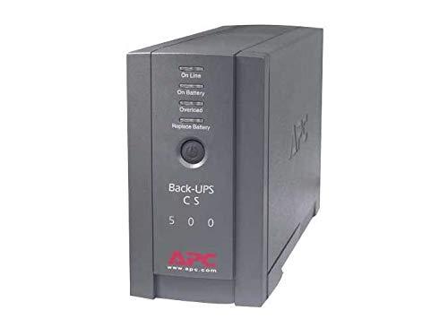 APC BK500BLK Back-UPS Cs 500VA/300W UPS System, Gray