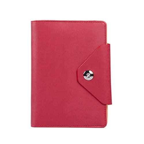 QWEA Cuaderno en blanco Bloc de notas de dibujo portátil Reemplazable Núcleo interno Anillo de acero Cuaderno de hojas sueltas Regalo de papelería (Color: Rojo, Tamaño: A5)