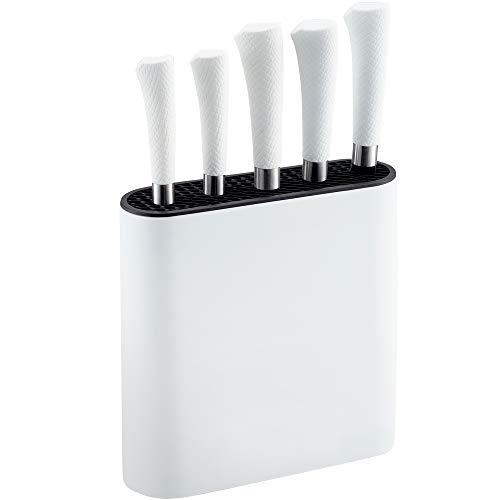 Netta - Set di 6 coltelli in acciaio inox con ceppo Wihte