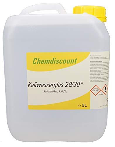 5Liter (ca. 6,25kg) Kaliwasserglas 28/30 Be, versandkostenfrei!
