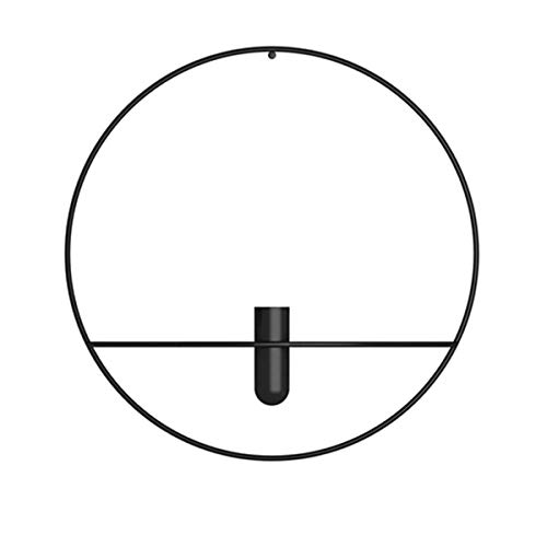 CHENGX Kerzenhalter, 3D-Wandkerzenhalter Kerzenhalter, modernes minimalistisches dekoratives Herzstück für Kaminverkleidung Kaffee(D Black)