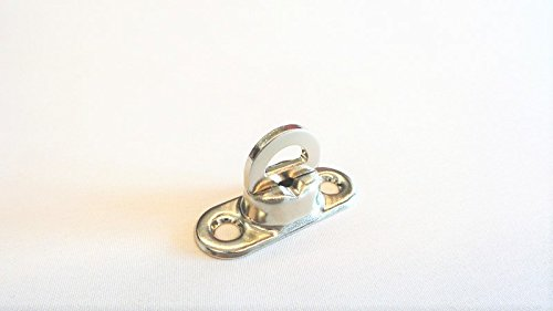 Preisvergleich Produktbild 25 x Drehverschluss Messing vernickelt für Ovalöse 17x11 mm,  Plane Drehwirbel (8mm)