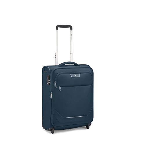 Roncato Joy Maleta Cabina avión Expansible Azul, Medida: 55 x 40 x 20/23 cm, Capacidad: 42/48 l, Pesas: 2 kg, Maleta Cabina avión ryanair