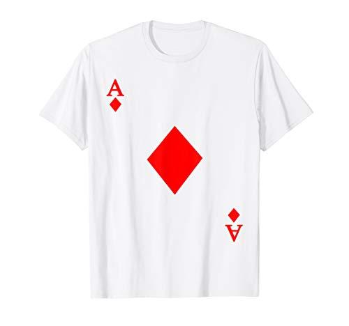 Ace of Diamond Deck of Cards Halloween Costume T-Shirt