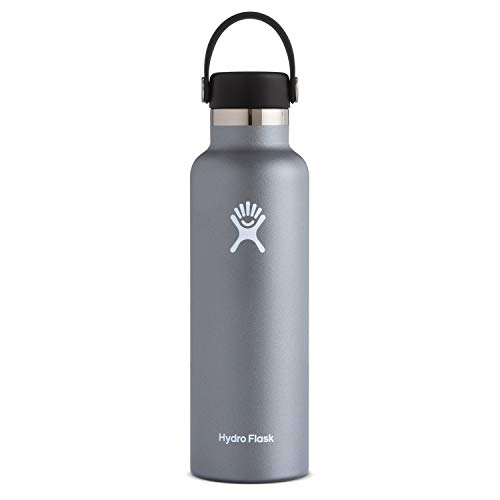 Hydro Flask Unisex– Erwachsene Flex Cap Trinkflasche, grau, 621ml