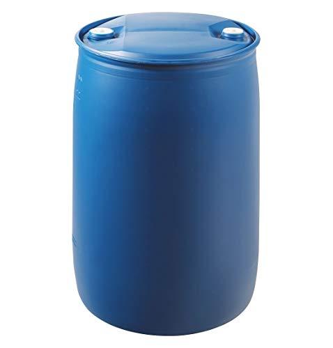 Kunststofffass 220 Liter – Fass mit Deckel Universaltonne Transportbehälter Spundfass Tonne aus HDPE 220l -blau