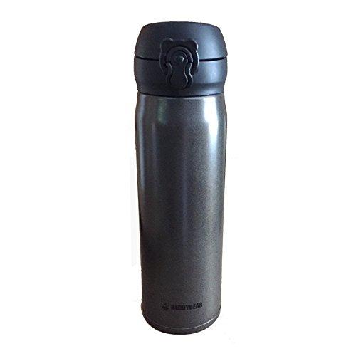 Jdmgarageuk noir flou carré en acier inoxydable bouteille d/'eau Thermos 500 Ml