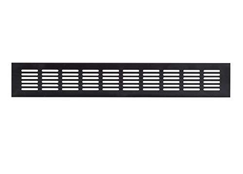 60x400mm Aluminium Lüftungsgitter Dunkelbraun Stegblech Lüftung Alu-Gitter Gitter Möbelgitter Möbellüftung