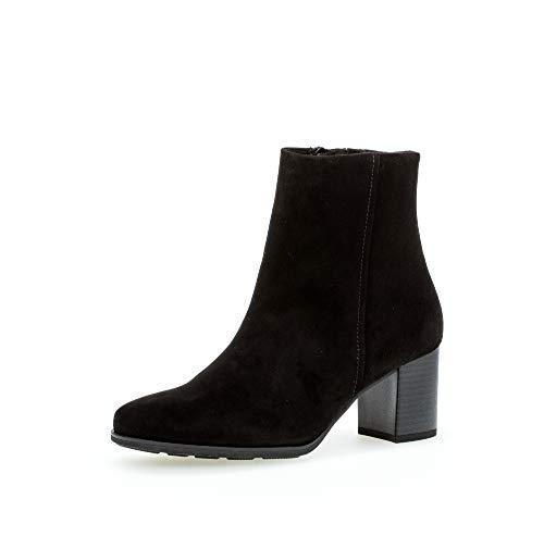 Gabor Damen Stiefeletten, Frauen Ankle Boots,Comfort-Mehrweite,Reißverschluss, Lady Ladies feminin elegant Women's,schwarz (Micro),38.5 EU / 5.5 UK