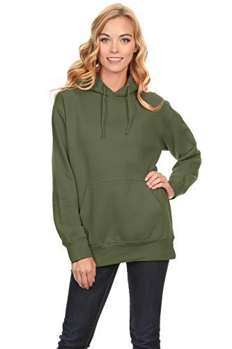 Simlu Fleece Pullover Hoodies Oversized Sweater reg and Plus Size Sweatshirts Army Green Medium