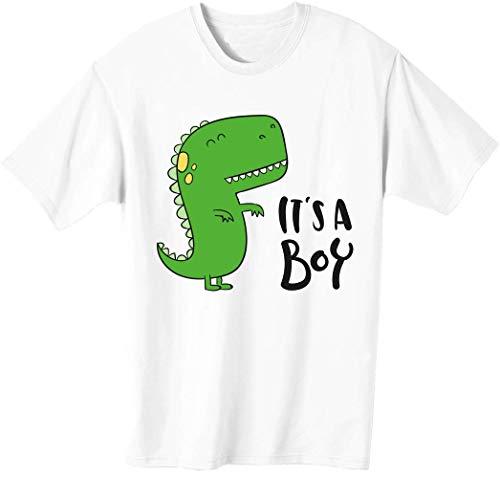 Camiseta para hombre con diseño de dinosaurio con texto en inglés 'It's A Boy Tiny