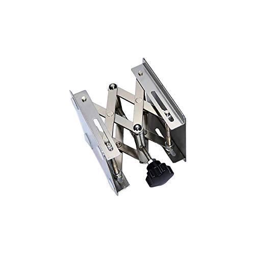 LabZhang 4' x4', Stainless Steel Lab Jack Scissor Stand Platform,Lab Lift Stand Table, Scientific Scissor Lifting Jack Platform,Expandable Lift Height Range 50mm-145mm,Maximum Support Weight 10kg