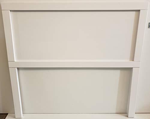 Muebles pejecar Cabecero de Madera para Cama de 135 Fabricado en Madera Maciza de Pino Acabado en Blanco nordico