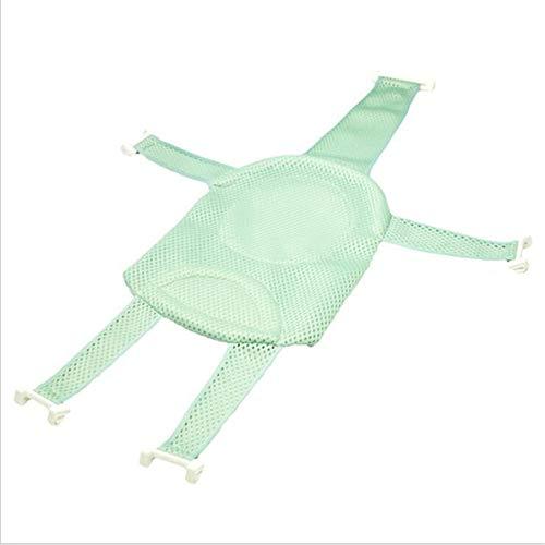 Verstellbare kreuzförmige Baby-Badewanne Net Glatte rutschfeste Dusche Wiege Bett Sitzmatte Badewanne Kissen Hängematte,Grün