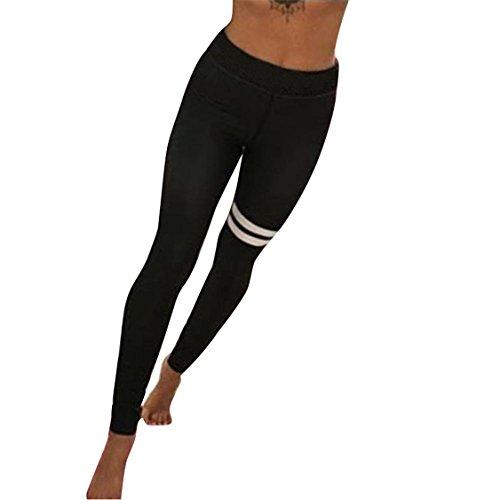 HARRYSTORE Mujer pantalones deportivos y elásticos de impresión Mujer polainas de yoga Fitness (L)