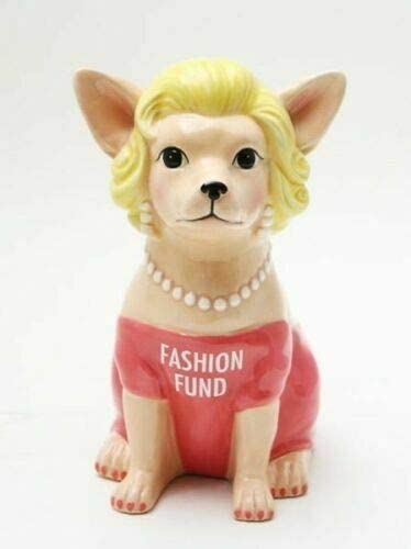 Chihuahua Year-end annual account in Pink Fashion Fund Money H OFFer Ceramic Figurine 8