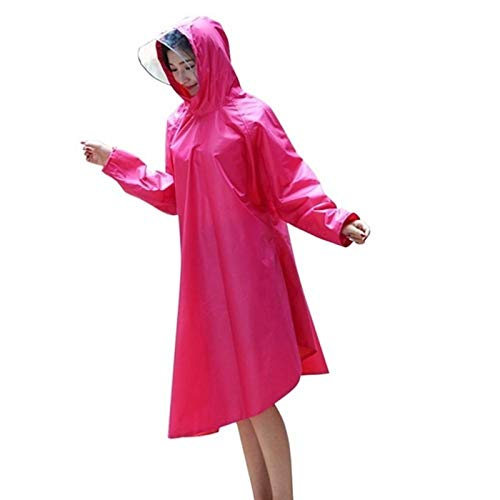 KSFBHC Poncho Scooter Impermeable Ciclismo Impermeable Noche Reflexivo Al Outdoor para Bicicleta Bicicleta Impermeable Universal Cape (Color : Rose Red)