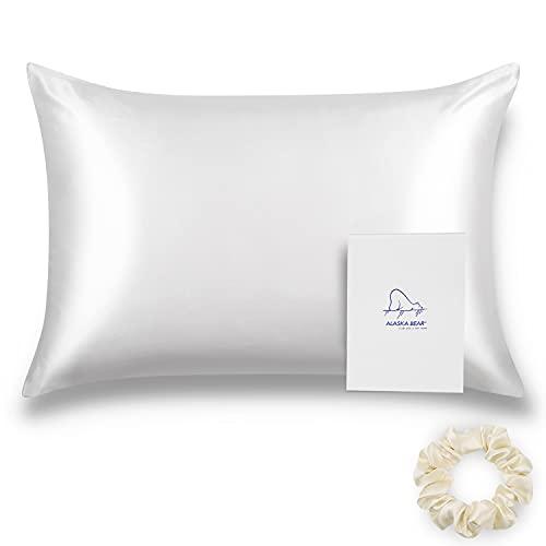 ALASKA BEAR Natural Silk Pillowcase,...