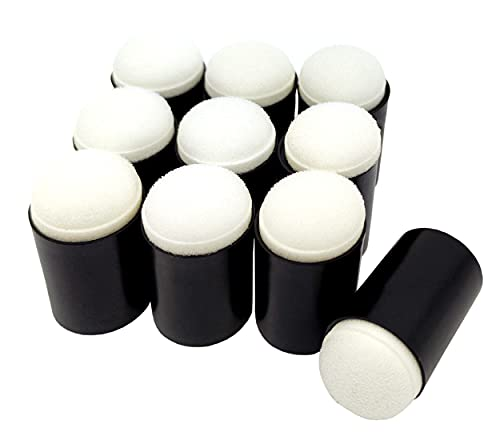 Cisolen 10 Piezas Daubers de Esponja de Dedo Esponjas para Dedos de Pintura para Dibujo, Manualidades, Blocs De Notas