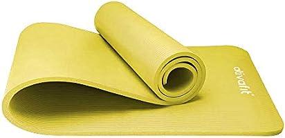 ATIVAFIT Yoga d'exercice Tapis de Sol Grande rembourré Extra épais 12 mm antidérapant entraînement Pilates Tapis d'exercice