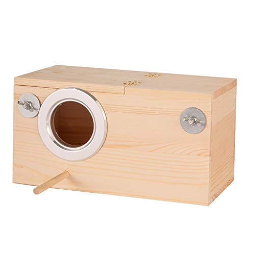 Caja de Mascotas Caja de Cría de Madera Nido Cálido Periquito Cría de Pájaro Pájaro Caja Jaula Caja Varios Tamaños (tamaño : Left 24cm)