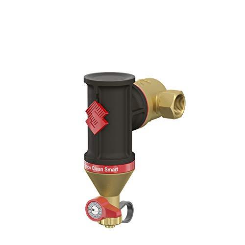 Flamco Clean Smart Automatischer heizkörperentlüfter, Luftabscheider, Magnetabscheider für Schmutz, Schmutzabscheider für Zentralheizung -kühlung Messing G1 30023