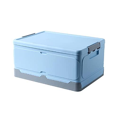 Caja de almacenamiento plegable de plástico con tapa, práctica para el hogar, plegable, para guardar libros, armarios, organizador multifuncional, plegable, organizador de joyas para collares