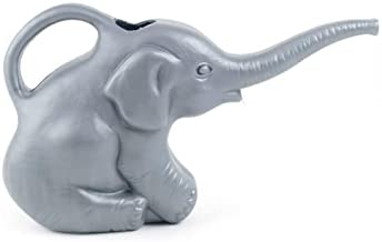 Union 63182 Elephant Watering Can, 2 Quarts, 0.5 Gallons, Gray, Novelty Indoor Watering Can