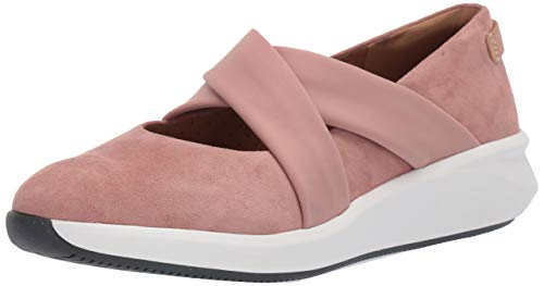Clarks Damen Un Rio Cross Turnschuh, Rose Wildleder, 36.5 EU
