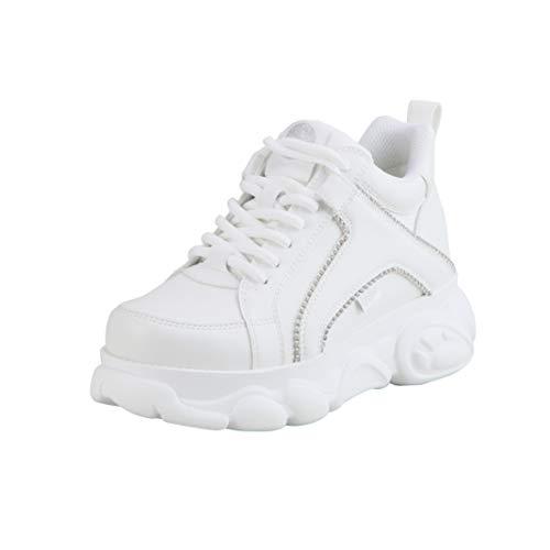 Buffalo Zapatillas altas para mujer Corin, color Blanco, talla 37 EU