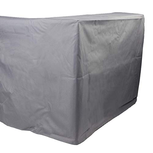BRAST Poly-Rattan Gartenmöbel Essgruppe Lounge Sitzgruppe Camouflage Deluxe 11tlg Grau/Anthrazit inkl. Abdeckung - 6
