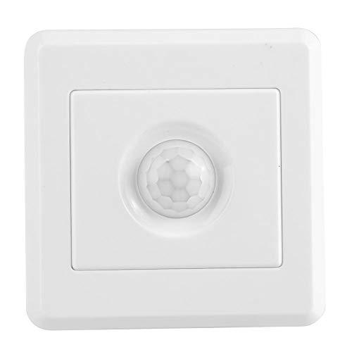 Tangxi Interruptor del Sensor de Movimiento, 110-240V 800W Sensor de Movimiento Corporal/Detector infrarrojo PIR Corredor Interruptor Inteligente Incorporado