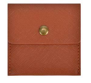 LIly 携帯灰皿 ポータブル レザー 革 ポケット サイズ カラー 6色 (ブラウン)