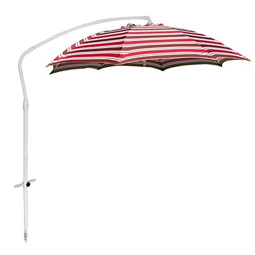 YLLN Strand Sonnenschirm Garten Sonnenschirm |215 cm (7 Fuß) |35mm Aluminium Sonnenschirm / 8 Fiberglas Rippen/Sonnenschutz Polyester Stoff Angelschirm - Bodeneinsatz