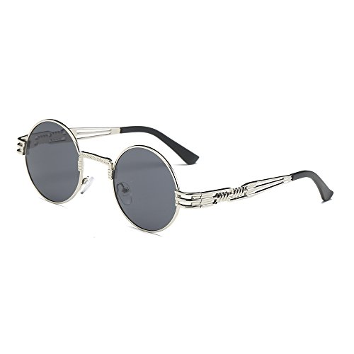 YWLINK Damen Herren Runde Sonnenbrillen Unisex Klassisch Strand Urlaub Retro Brillen
