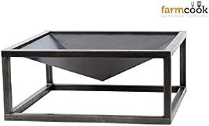 Farm Cook Cheminée Brasero, acier, Pan 9, Noir
