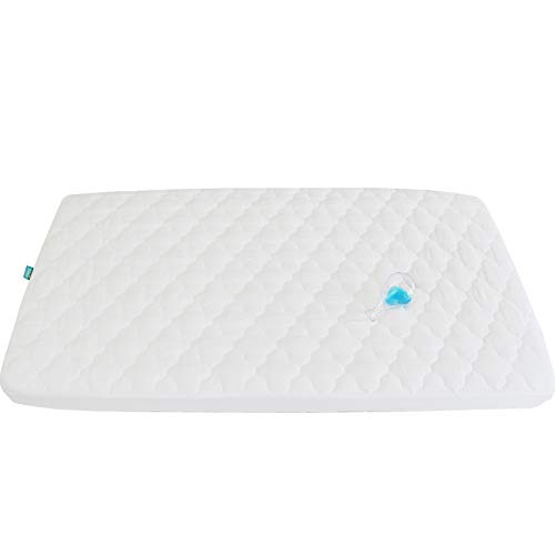 Biloban Waterproof Crib Mattress Pad Cover for Pack N Play -...