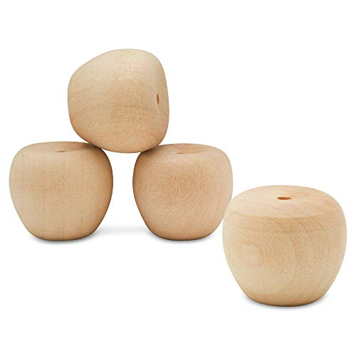 Unfinished Wood Mini Cherry Apple, 3/4 inch, Pack of 25 for Wooden Doll Head and Wood Crafts, by Woodpeckers