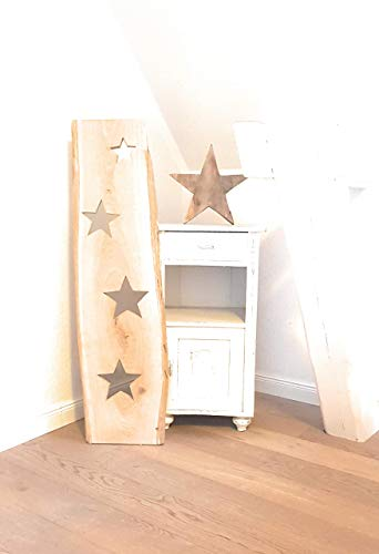 Dekoratives Holzbrett Eiche Sterne