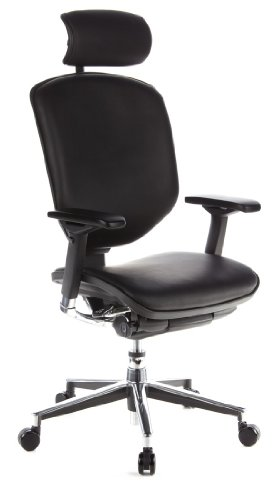 hjh OFFICE 652720 Enjoy - Silla de oficina en piel negra