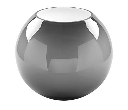 Fink Vase Moon - aus Opalglas mundgeblasen und durchgefärbt grau H 21 cm