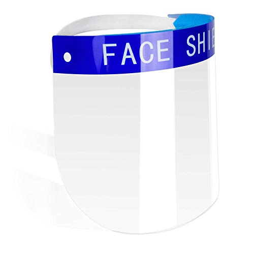 Vibeey Safety Face Shield Tapa de protección completa Visor ancho Escupir Lente antiniebla Ligero Protector facial transparente ajustable para hombres Mujeres
