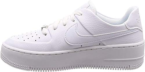 Nike Womens Air Force Sage Low Trainers (9, White/White)