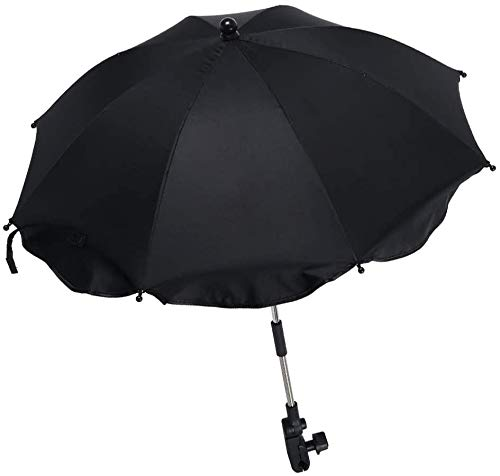 Sombrilla Carrito de Bebé Universal para Protección UV50 Paraguas de Lluvia con Soporte para Tubos Redondos y Ovalados para Niños Carritos