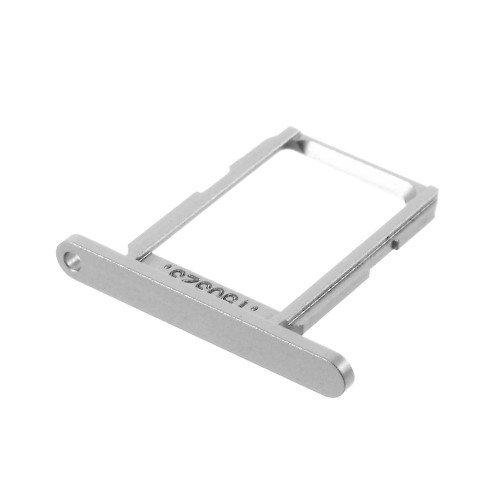 jbTec® SIM-Tray/Karten-Halter passend für Samsung Galaxy S6 - Karten-Halter Schlitten Slot Handy-Karte Rahmen Karten-Fach, Farbe:Silber