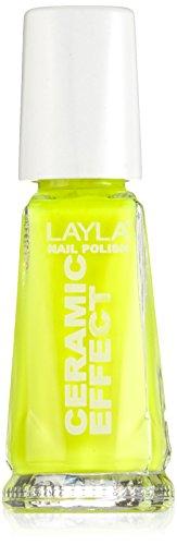 Layla Cosmetics 1243R23-106 Smalto, Effetto Ceramica, Tonalità 106 Yellow Fluo