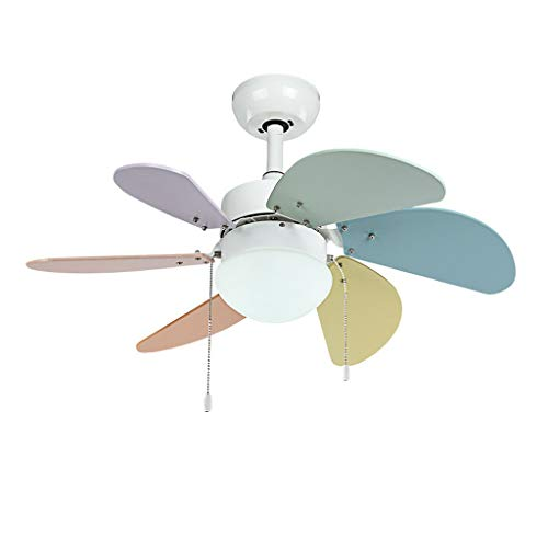 PIAOLING Luz silenciosa del Ventilador de Techo Ventilador de Techo 220v LED 6 aspas Ventiladores con Control Romote for 10-15 Metros Cuadrados Habitación Infantil Ahorro de energia
