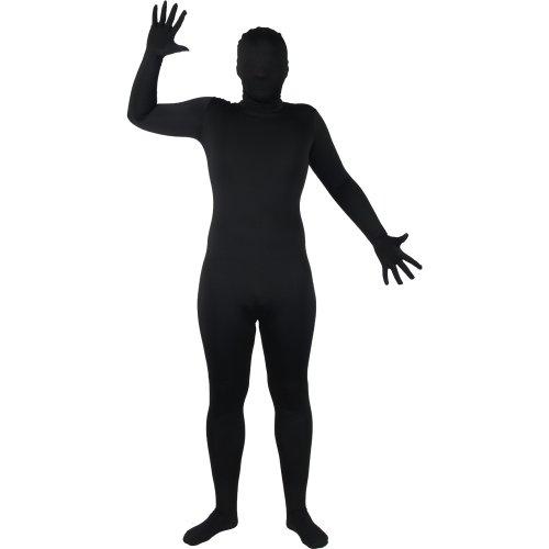 Schwarzer SKINZ Lycra Spandex Body Hautenger Ganzkörper Anzug Größe M Max 178cm