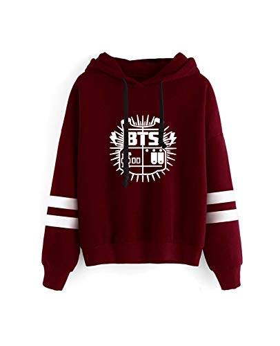 Suéter Unisex KPOP BTS Fashion Deporte Sudadera con Capucha 3D Impreso Amor Usted Mismo Jersey Tops Suave Cómodo Manga Larga Hombres Mujeres (Color : A, Size : XX-Large)