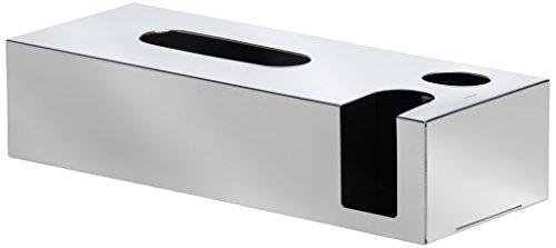 Blomus 68690 Kombibox Nexio  für Kosmetiktücher, Wattestäbchen & Pads, Edelstahl poliert